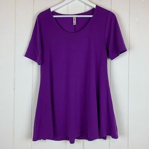 LuLaRoe Perfect T Shirt Small Solid Purple